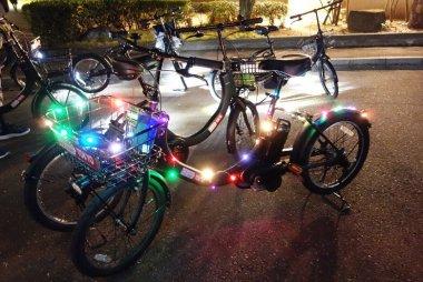 イルミネーション自転車