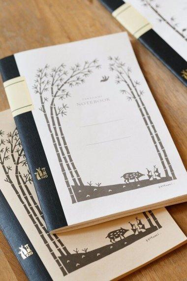 絵本作家むらかみひとみさん デザインの竹紙ノート