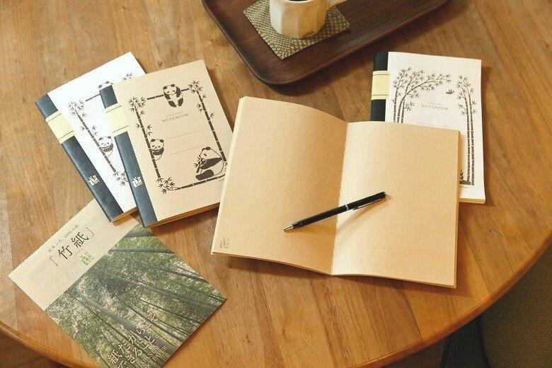 竹紙ノートの柔らかく優しい風合いを楽しむ