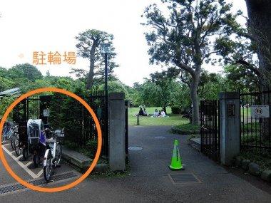 等々力渓谷日本庭園 駐輪場