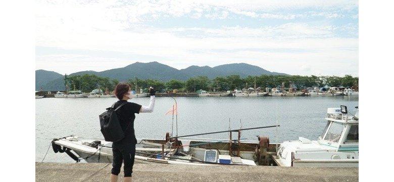 堀切港から沖島行の船に乗船