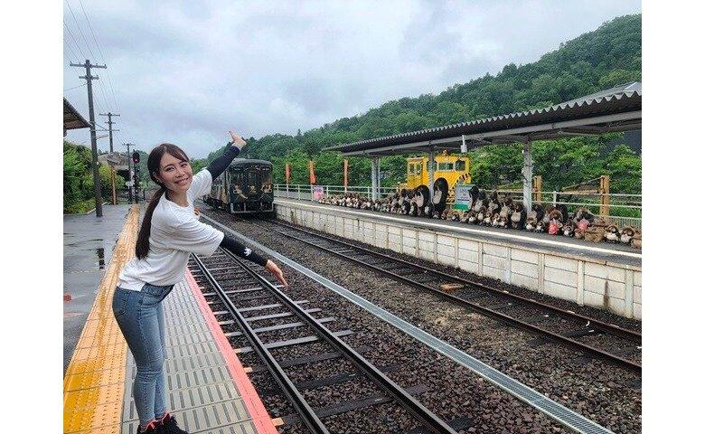 信楽駅とあむちゃん
